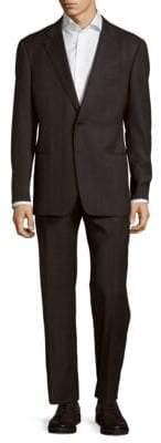 Giorgio Armani Modern Fit Windowpane Wool Suit