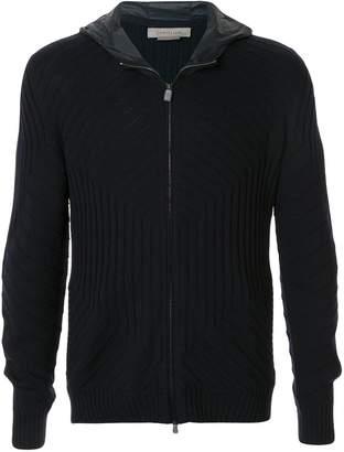 Corneliani hooded zip-up cardigan