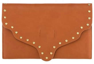 Shiraleah Scalloped Leather Clutch