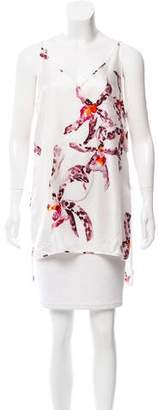 Salvatore Ferragamo Printed Silk Top w/ Tags