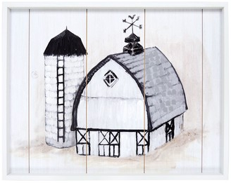 New View Barn Planked Farmhouse Wall Decor