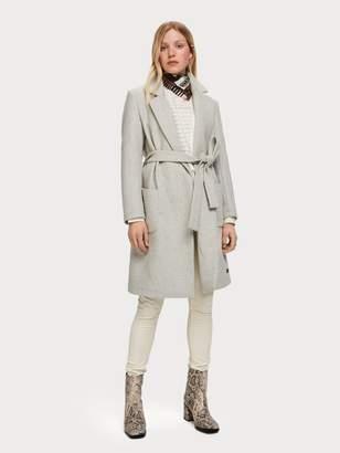 Scotch\U0020\U0026\U0020soda Belted Wool Blend Coat