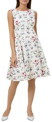 Hobbs London Nova Floral Print Fit-and-Flare Dress