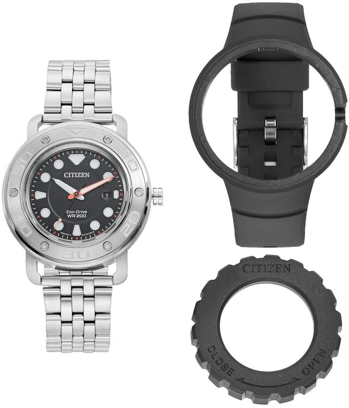 Citizen Eco-Drive DIY Stainless Steel Watch & Interchangeable Band Set - AW1530-65E