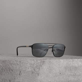 Burberry Square Frame Metal Sunglasses