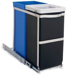 Simplehuman 35 Liter / 9.3 Gallon Under Counter Kitchen Pull-Out Recycling Trash Can