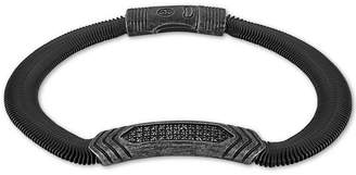 Esquire Men's Jewelry Diamond Snake Chain Bracelet (1/5 ct. t.w.) in Black Ion-Plated Stainless Steel