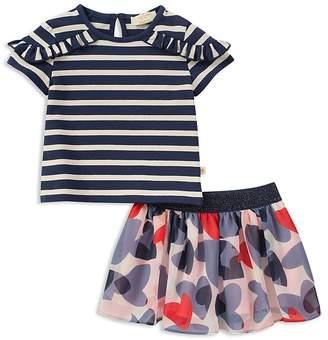 Kate Spade Girls' Striped Tee & Confetti Hearts Chiffon Skirt Set - Baby
