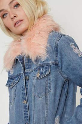 Fantastic Fawn Pink-Fur Jean Jacket