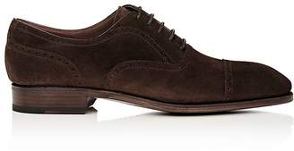 Carmina Shoemaker Men's Suede Cap-Toe Balmorals