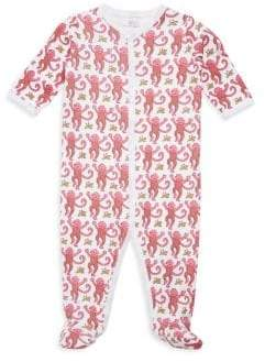 Roller Rabbit Baby's Monkey Cotton Footie