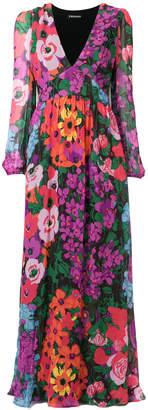 Twin-Set maxi floral print dress