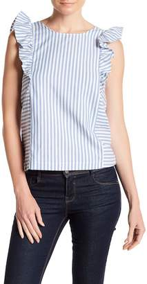Leibl '38 Striped Ruffle Tank $64 thestylecure.com