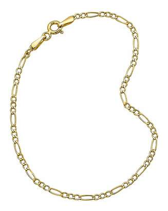 Fashion World 9 Carat Gold 7inch Figaro Bracelet