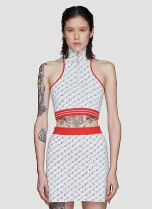 Stella McCartney Logo Knit Vest in White