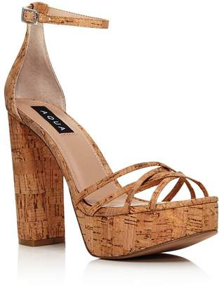 c05c23d17ad Aqua Women s Milo Snake Print Platform Sandals - 100% Exclusive