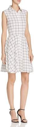 Aqua Windowpane Shirt Dress - 100% Exclusive