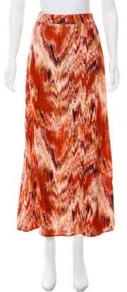 Christophe Sauvat Ikat Velvet Skirt