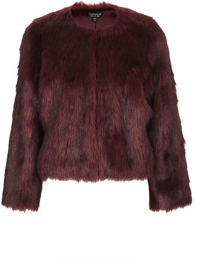 Soft Faux Fur Cropped Jacket