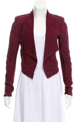 Alice + Olivia Suede Open Front Jacket
