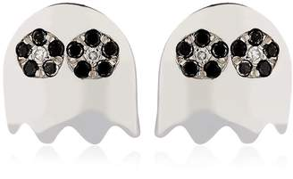 Black Diamond Level 256 Pac-Man Earrings