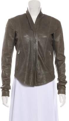 Veda Leather Paneled Jacket