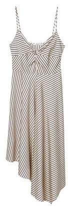 MANGO Knot striped dress