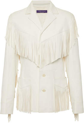 Ralph Lauren Bryleigh Fringed Leather Jacket