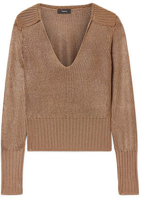 Theory Knitted Sweater - Brown
