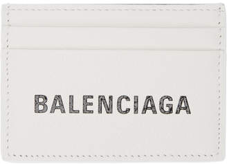 Balenciaga White Logo Everyday Card Holder