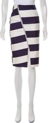 Nicholas Striped Pencil Skirt