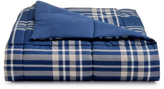 Martha Stewart Collection Essentials by Collection Reversible Plaid King Comforter, Created for Macy's Bedding
