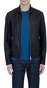 Theory Men's Leather Morvek L Jacket - Black