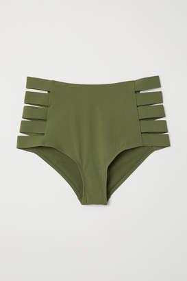 H&M H&M+ Bikini Bottoms High Waist - Green