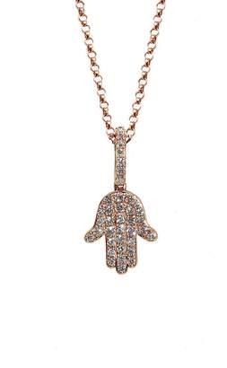 BETTINA JAVAHERI Double Sided Diamond Hamsa Necklace