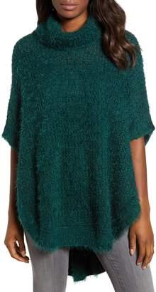 Caslon Eyelash Knit Poncho Sweater