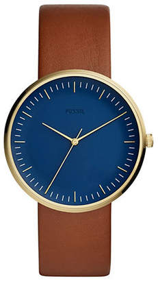Fossil The Essentialist Three-Hand Luggage Leather-Strap Watch