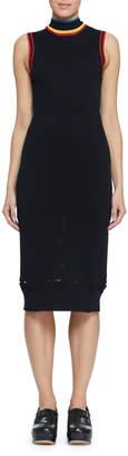 Proenza Schouler Pswl Turtleneck Sleeveless Body-Con Dress