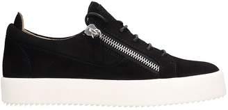 Giuseppe Zanotti Frankie Sneakers In Black Suede