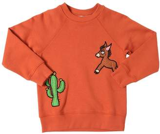 Mini Rodini Organic Cotton Sweatshirt W/ Patches