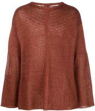 Rick Owens oversized ribbed knit sweater
