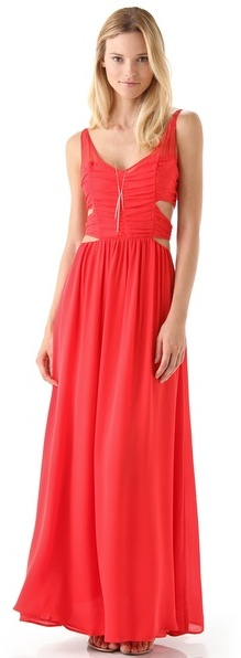 Pencey Cutout Long Dress