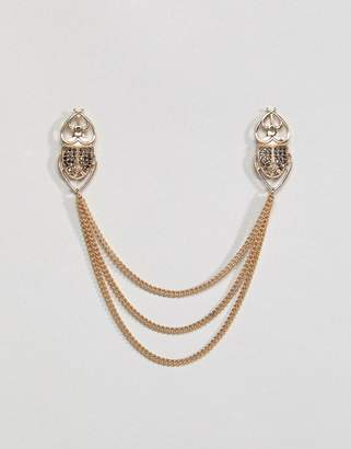 Asos Beetle Collar Tips With Crystals