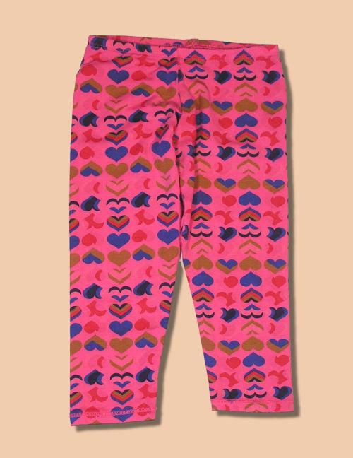 T2 Love Pink Heart Leggings