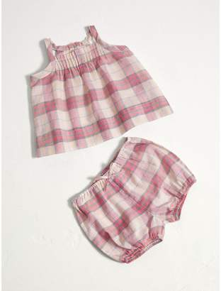 Burberry Check Cotton Two-piece Baby Gift Set
