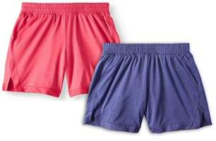 Athletic Works Active Mesh Shorts, 2-Pack (Little Girls & Big Girls)