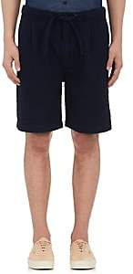 Fdmtl Men's Cotton Plissé Wide-Leg Shorts-Blue Size Xs
