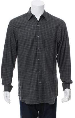 Ralph Lauren Purple Label Gingham Button-Up Shirt