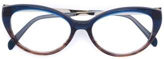Emilio Pucci contrast colour cat eye glasses