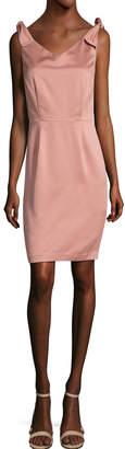 Ava & Aiden Off-The-Shoulder Bow Sheath Dress